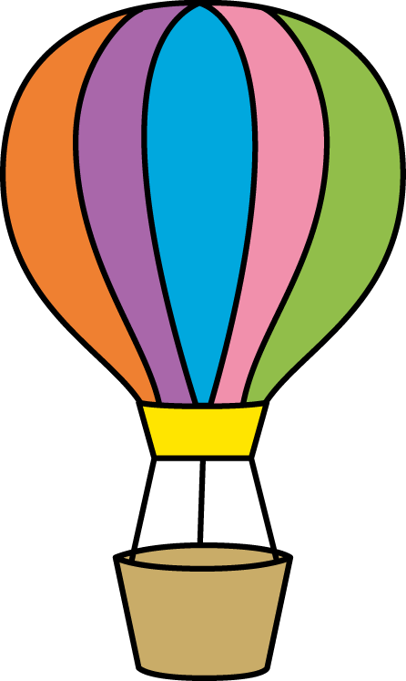 clip free stock Colorful Hot Air Balloon