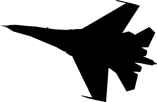 graphic royalty free library Airplane Fighter Silhouette Clip Art at Clker