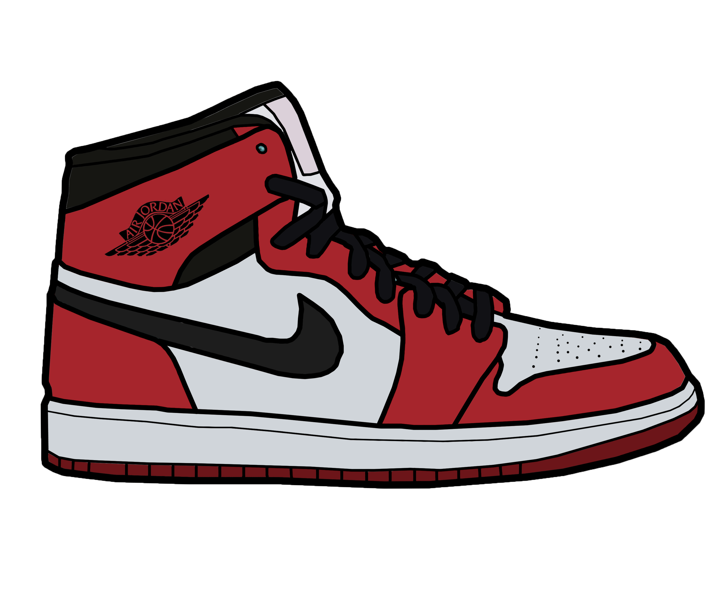 clip free download Drawing sneakers jordan 11.  collection of air