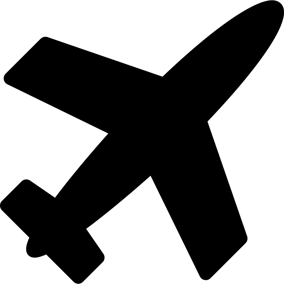graphic black and white stock Airplane Filled Shape Svg Png Icon Free Download