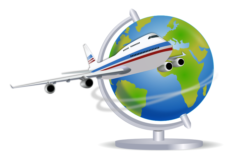 svg transparent download  collection of globe. Airplane around the world clipart