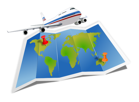 clip royalty free download Nomad life pau hana. Airplane around the world clipart