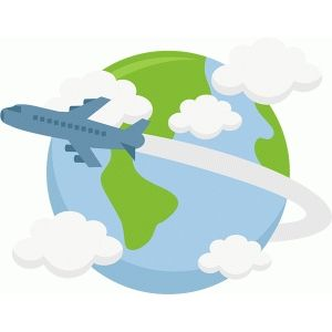 jpg free library Plane flying travel clip. Airplane around the world clipart