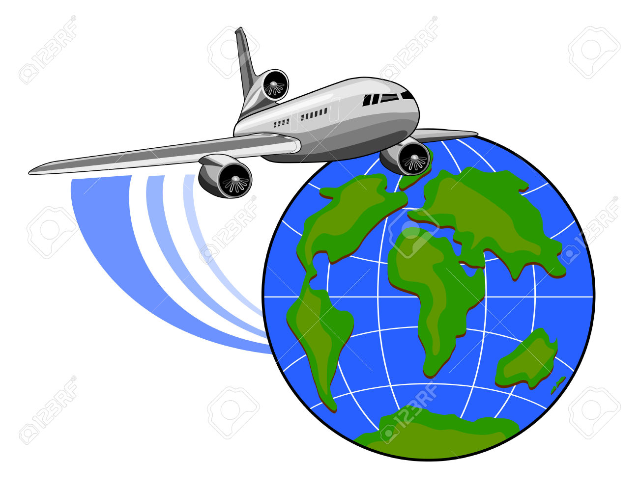 jpg royalty free stock Travel free download best. Airplane around the world clipart