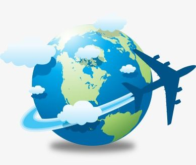 clip art freeuse Airplane around the world clipart. Earth and