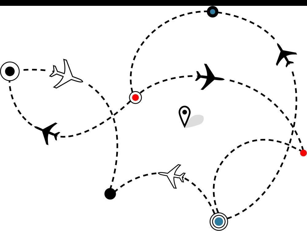 svg download Flight Airplane Air travel Airline Clip art