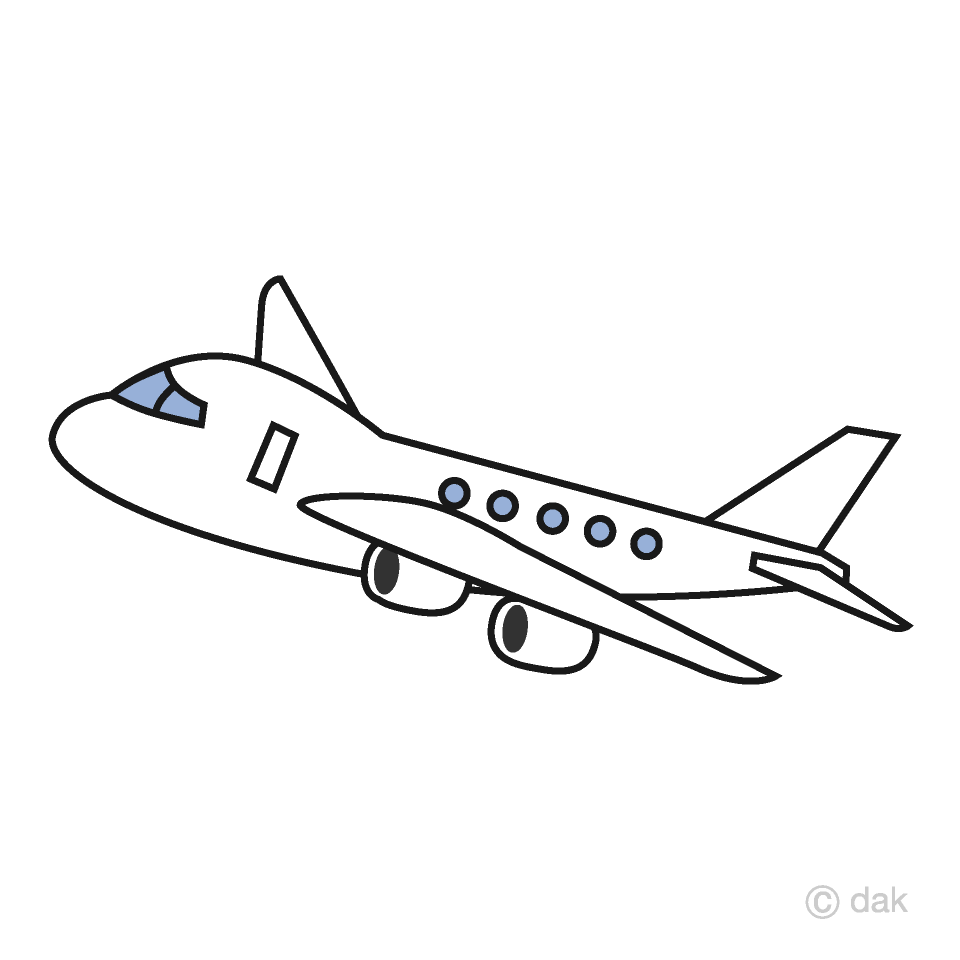 vector free library Simple free picture illustoon. Airplane clipart.