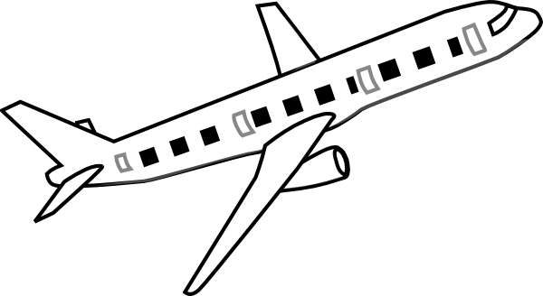 clip art freeuse download White clipart pencil and. Aeroplane drawing