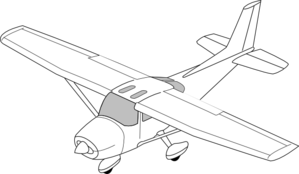 png Plane body clip art. Airplane clipart black and white