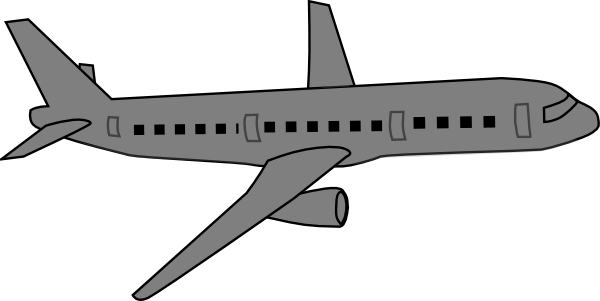 clip art transparent stock Airplane clipart grey. Clip art at clker