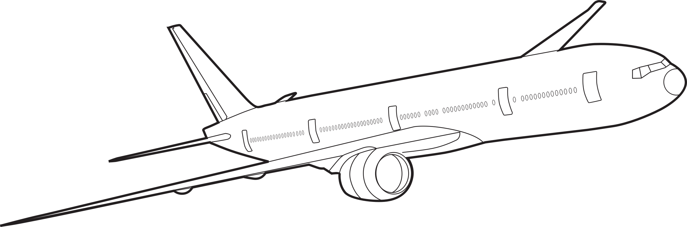 graphic transparent library Aeroplane drawing. Plane outline at getdrawings