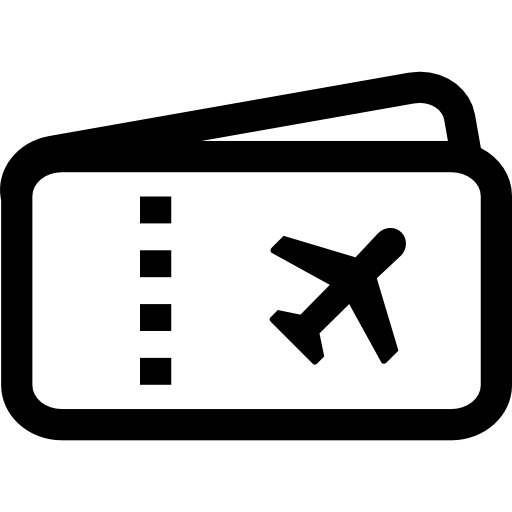 clipart library library Airplane Ticket