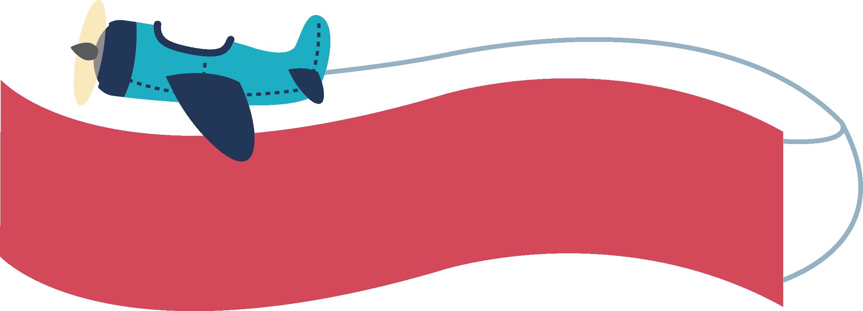 clipart royalty free Aircraft banner flag box