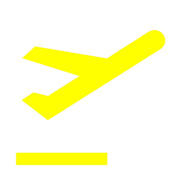 clip art Departure sign yellow clip. Airport clipart simbol.