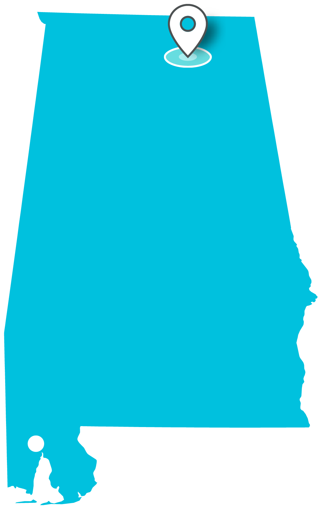 graphic free Locations teklinks map of. Alabama clipart