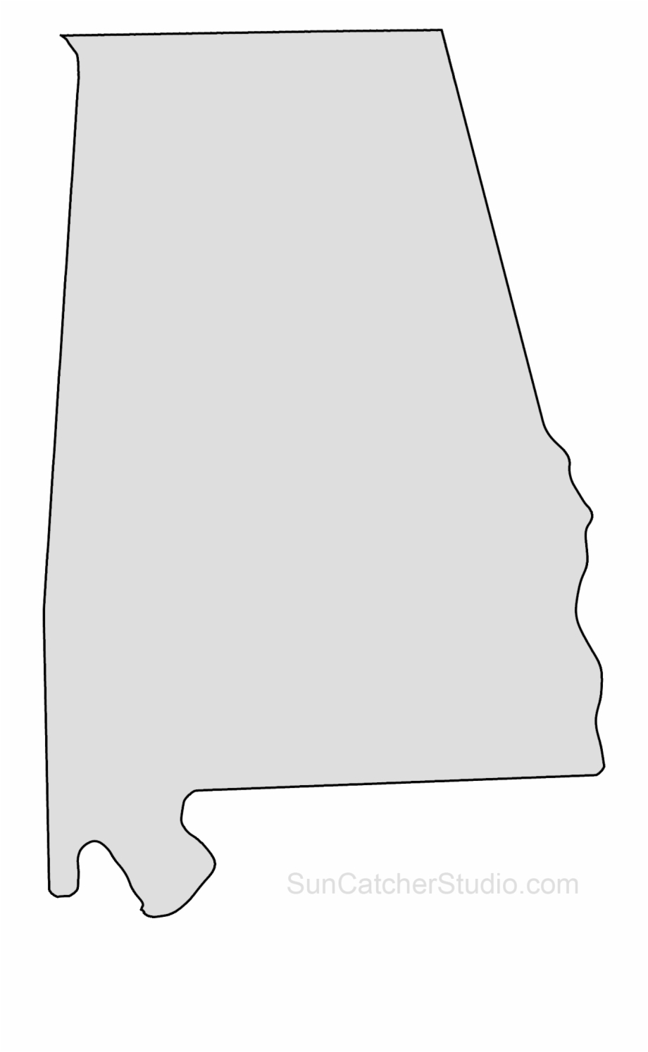 banner freeuse download Map printable stencil pattern. Alabama clipart shape.