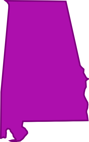 stock Alabama Outline Clip Art at Clker