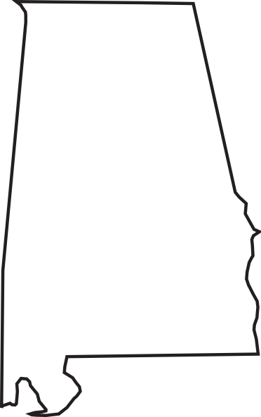 graphic royalty free library Font a for silhouette. Alabama clipart