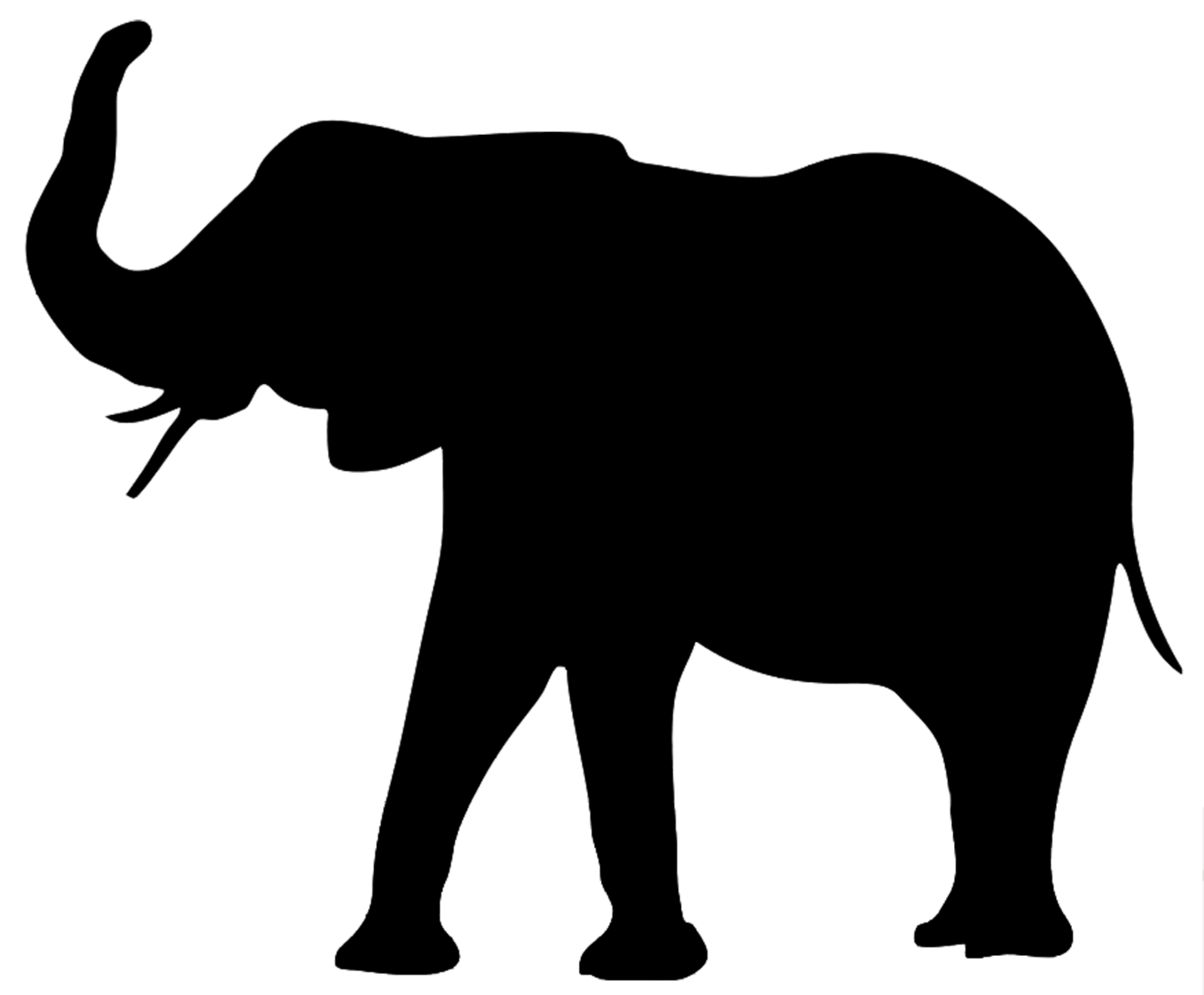 clip library download elephant silhouette