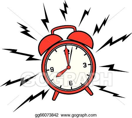 banner stock Alarm clipart. Vector stock classic clock