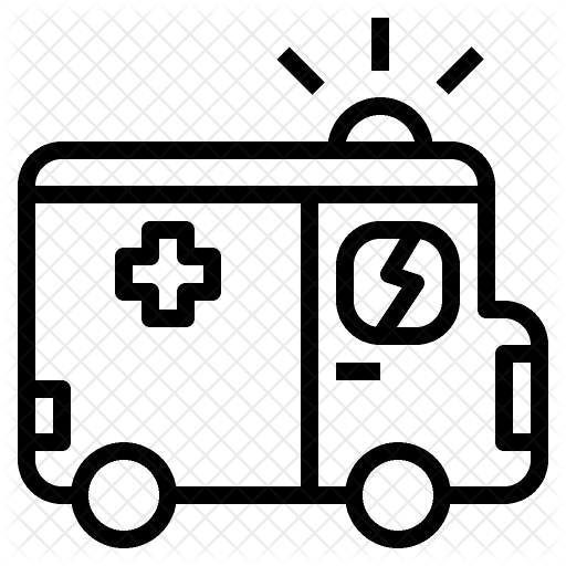 jpg black and white stock Ambulance Icon