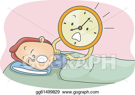 royalty free download Vector stock wake up. Waking clipart late