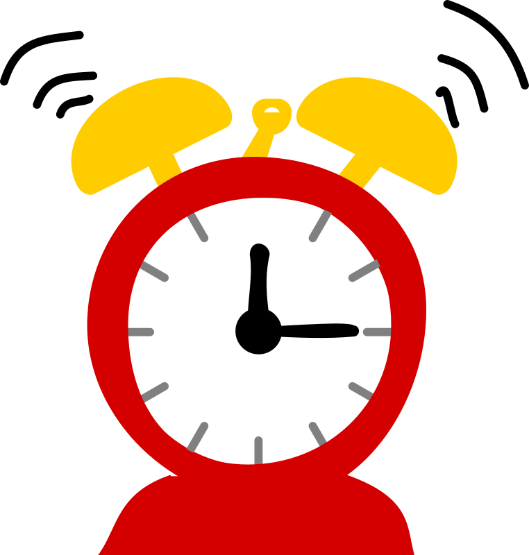 black and white library Clocks clipart morning. Alarm small clock free.