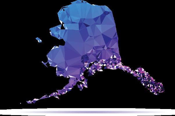 clipart transparent Alaska clipart. Polygon triangle map blue.