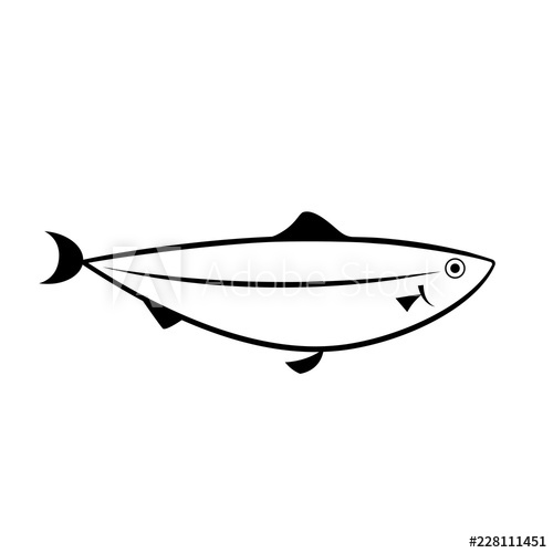 clip black and white download Outline icon seafood isolated. Alaska clipart salmon fish.