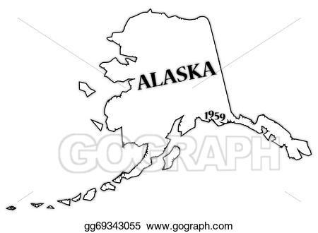 royalty free stock Alaska clipart state line. Transparent .