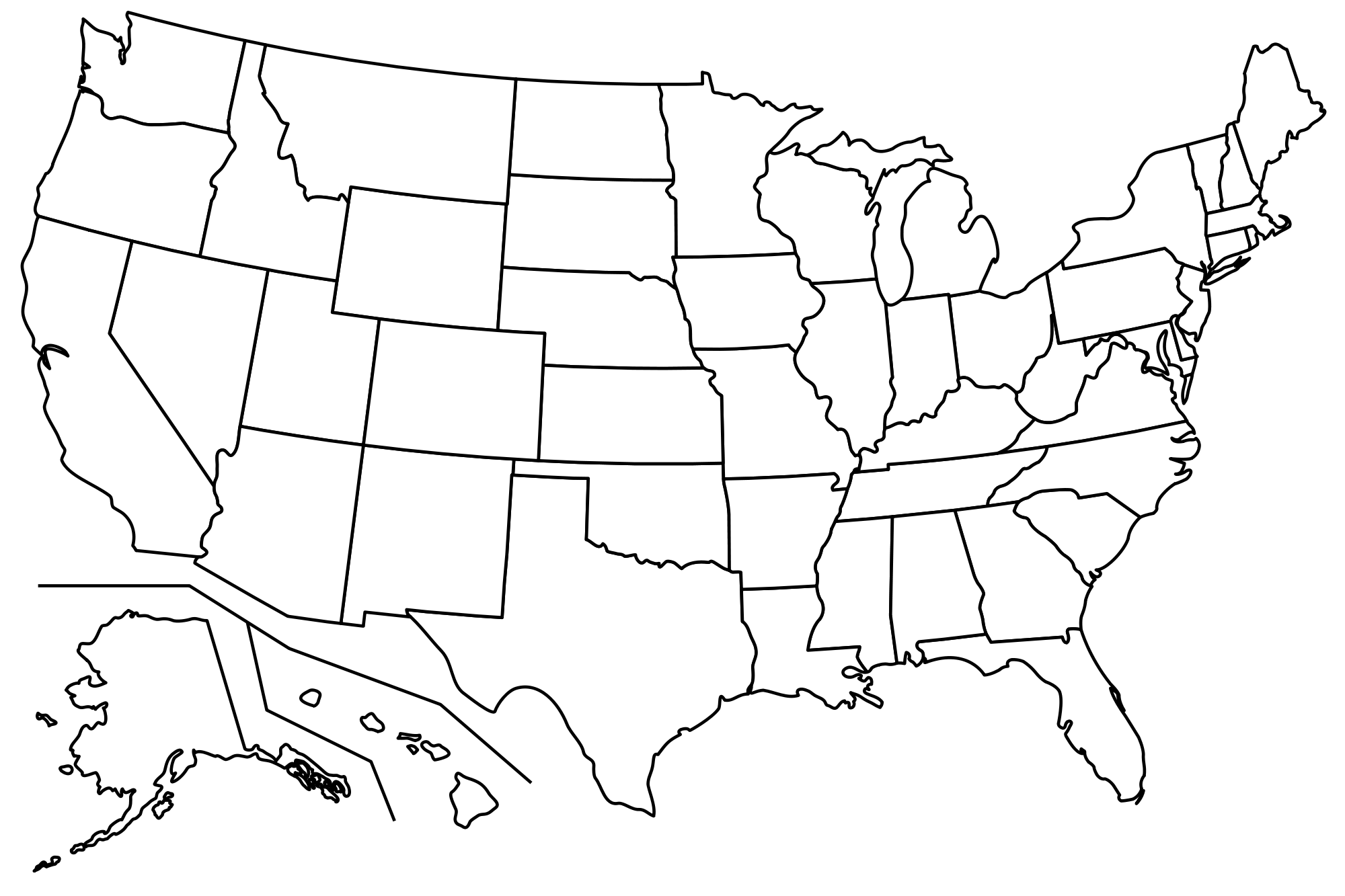 picture royalty free download File blank us map. Usa transparent sketch