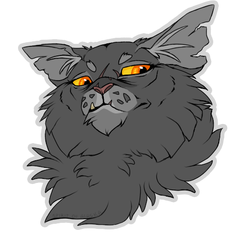 svg black and white library Yellowfang by Spirit