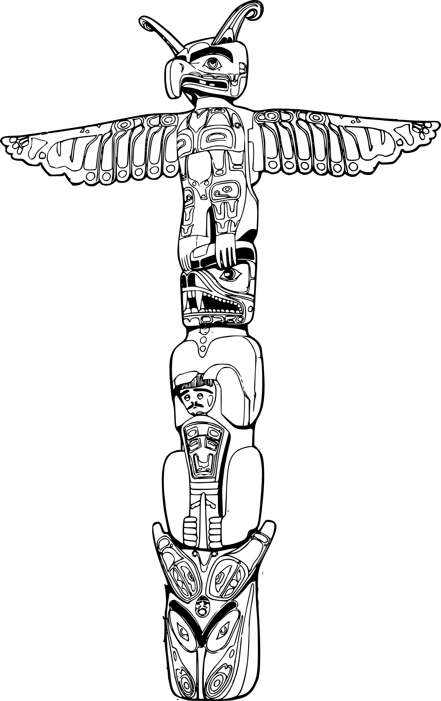 vector royalty free stock Totem Drawing at GetDrawings