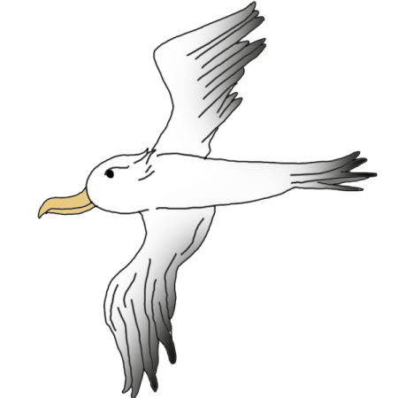 svg free Albatross drawing. Symbolism spiritual meaning and