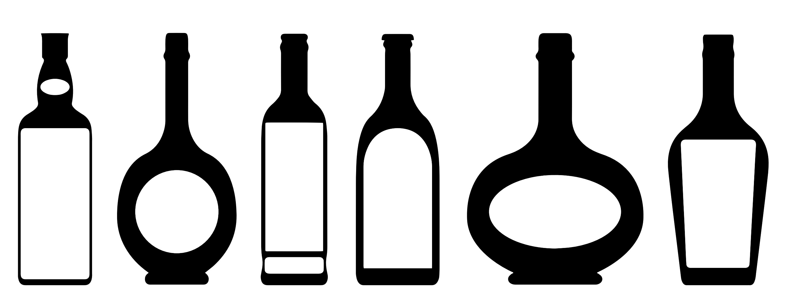 vector transparent Free liquor cliparts download. Alcohol bottle clipart black and white.