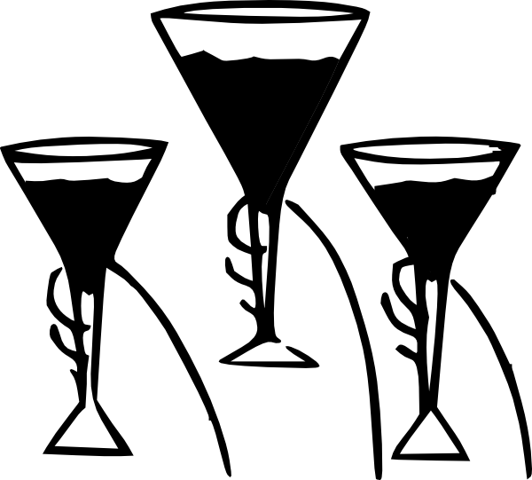 svg transparent library Drinking glass clipart black and white. Wine clip art at
