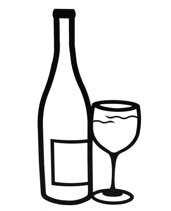 png transparent Free alcohol download clip. Wine bottle clipart black and white