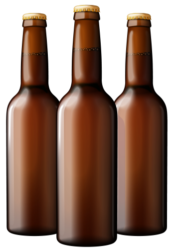 clip black and white library Brown bottles png art. Beer clipart beer wine.