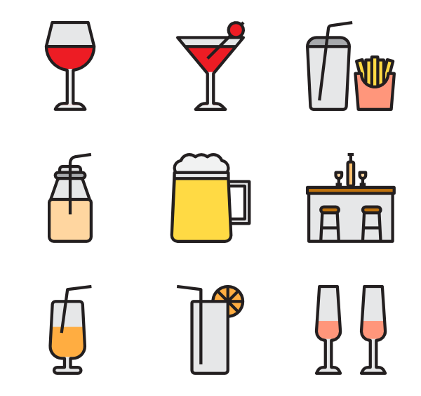 image freeuse library Icons free drink. Bar vector alcohol