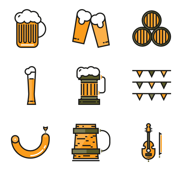 clip art library Alcohol icons free oktoberfest. Bar vector beer