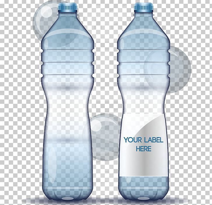 vector free stock Vector bottle mineral water. Plastic png clipart