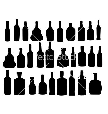 clip art free Silhouette alcohol bartender artwork. Vector bottle liquor