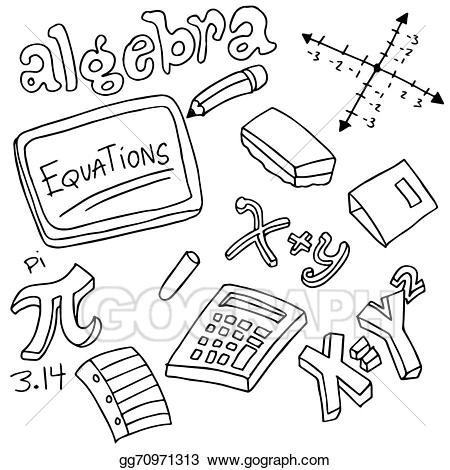 image freeuse download Vector illustration symbols and. Algebra clipart
