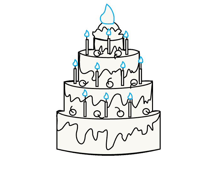 banner royalty free library Cake Designs Drawing at GetDrawings