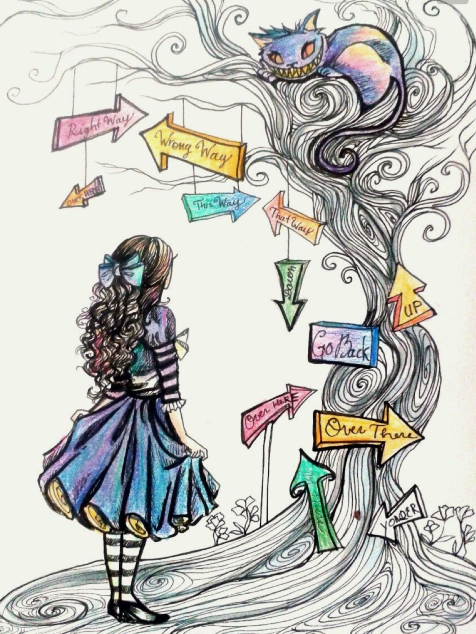 image royalty free library Drawing s alice in wonderland. Cool stuff