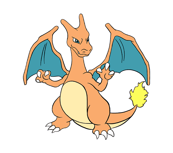 clip art black and white How to Draw Charizard