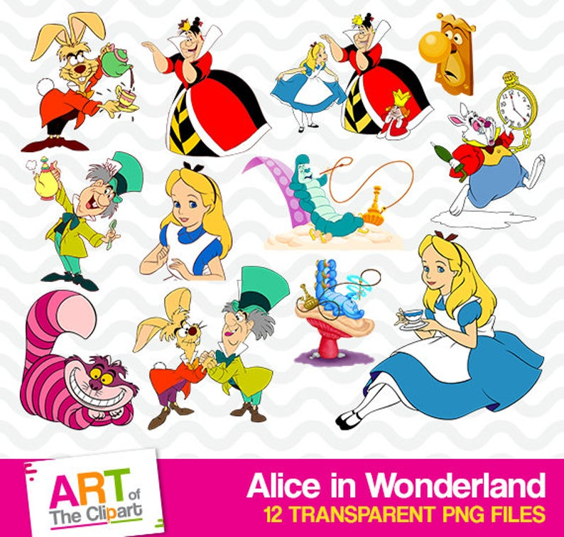 banner transparent High resolution disney images. Alice in wonderland clipart