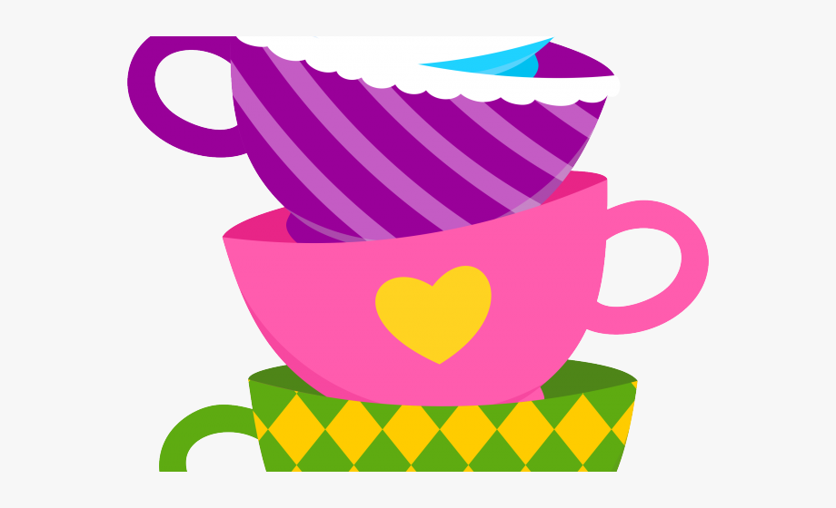 jpg freeuse library Wonderland clipart stacked teacup. Alice in tea cup.