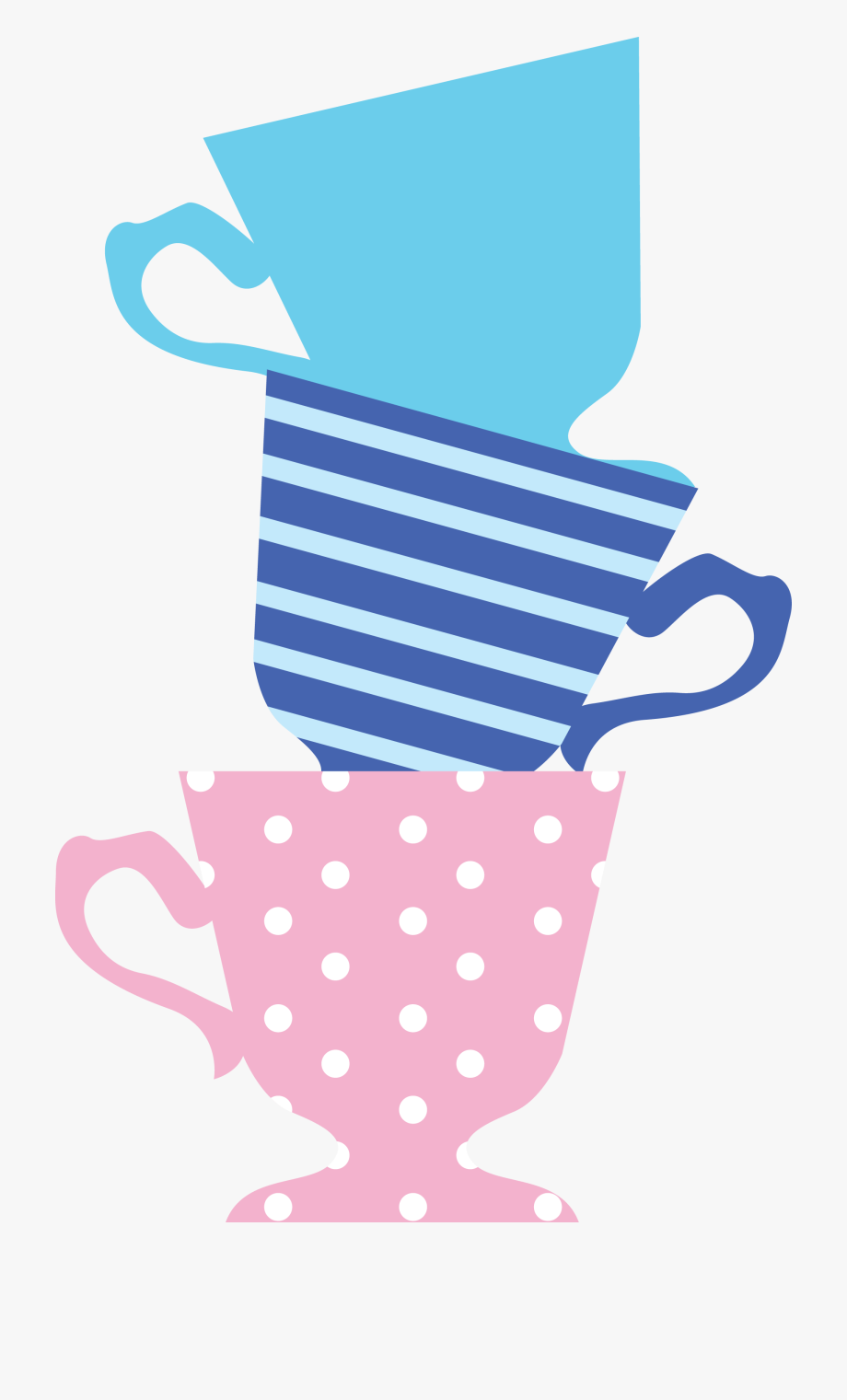 clip art freeuse stock Wonderland clipart stacked teacup. Graphic royalty free download.