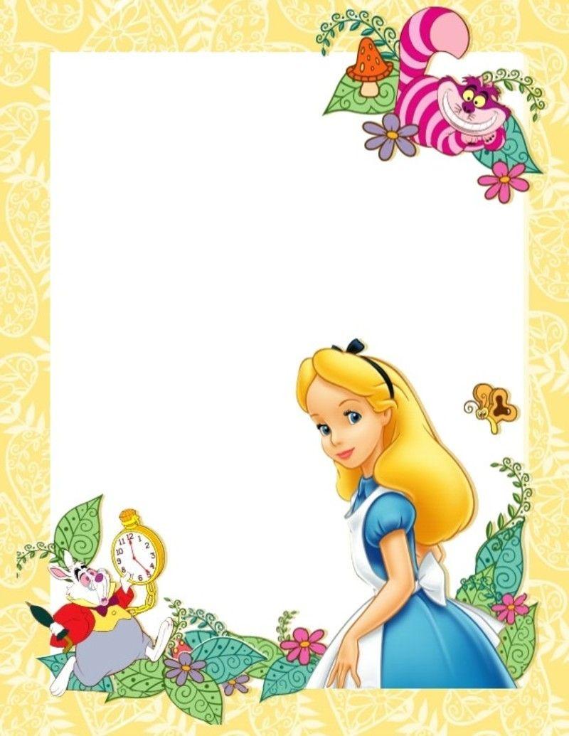 svg free Alice in wonderland clipart wonderland page border. Image du blog aupaysderosalie.